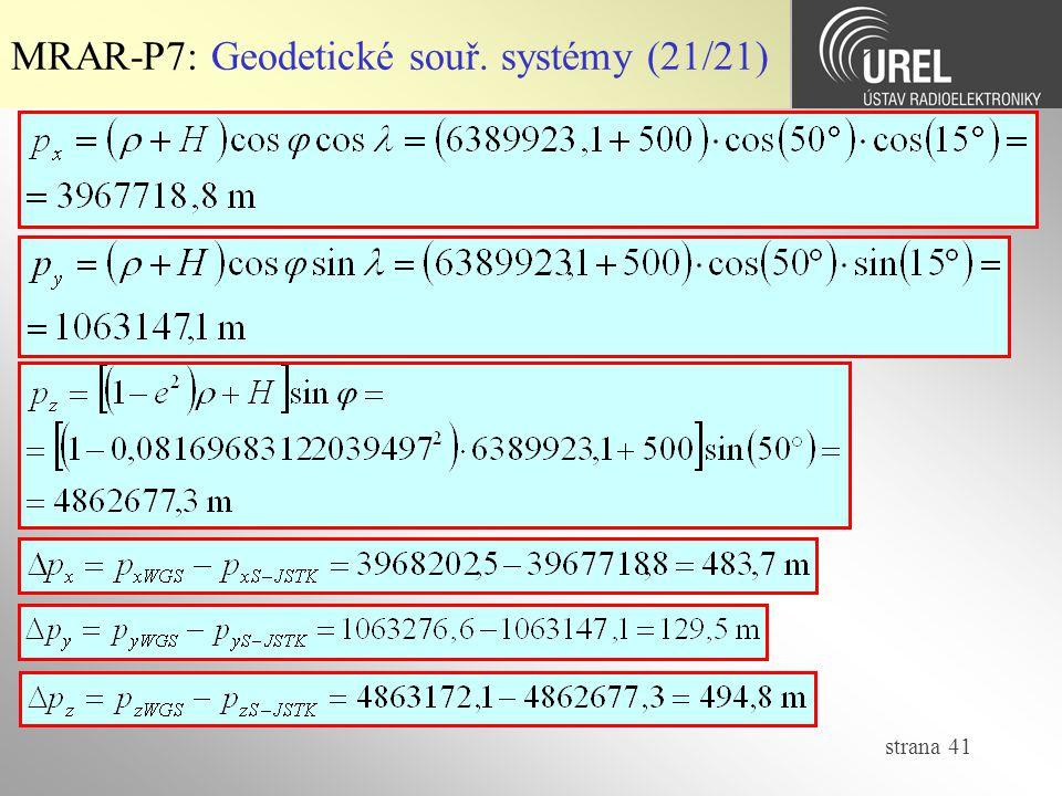 MRAR-P7: Geodetické souř. systémy (21/21)