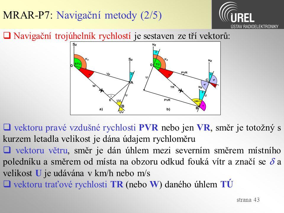 MRAR-P7: Navigační metody (2/5)