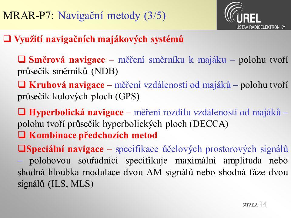 MRAR-P7: Navigační metody (3/5)