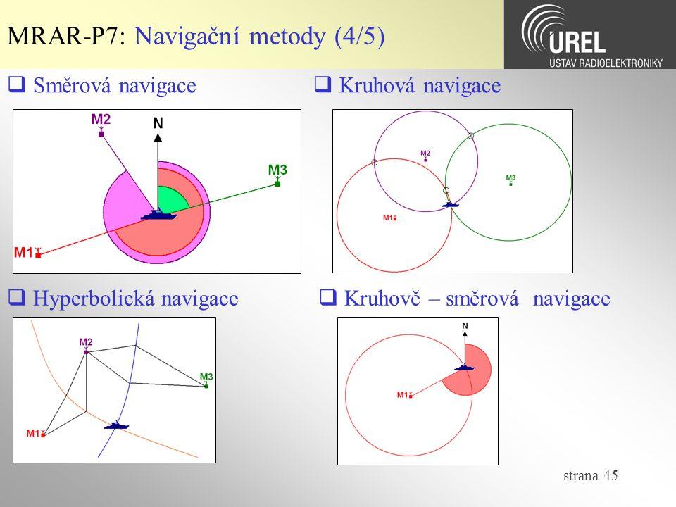 MRAR-P7: Navigační metody (4/5)