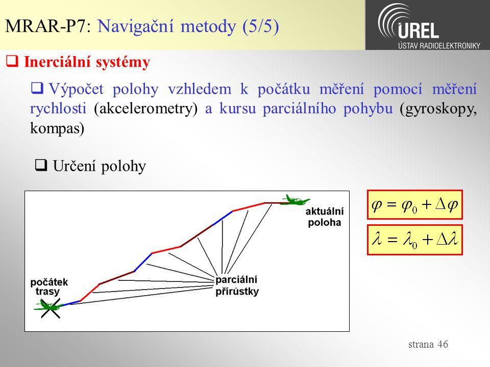 MRAR-P7: Navigační metody (5/5)