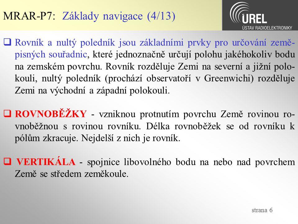MRAR-P7: Základy navigace (4/13)