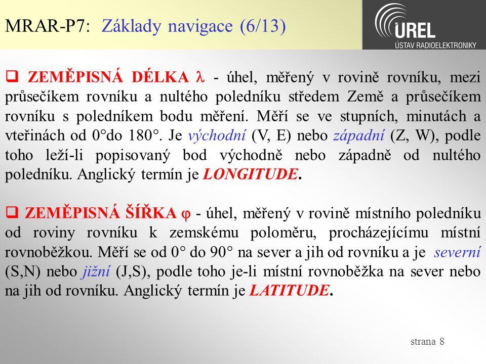 MRAR-P7: Základy navigace (6/13)