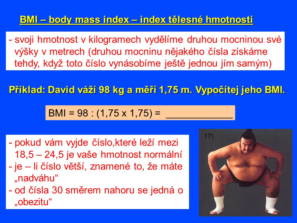 BMI – body mass index – index tělesné hmotnosti