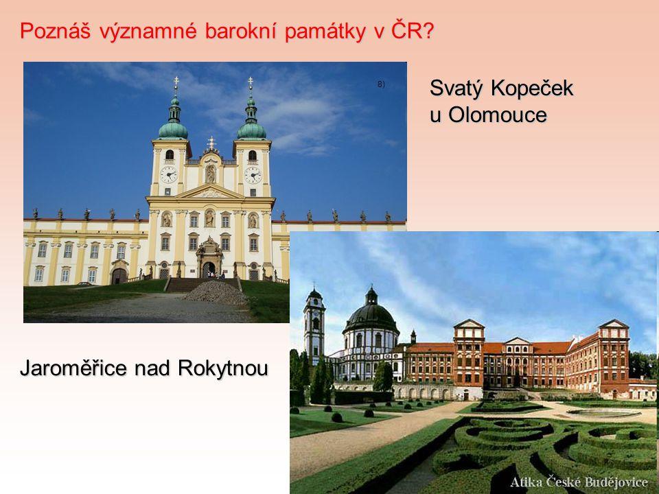 Poznáš významné barokní památky v ČR