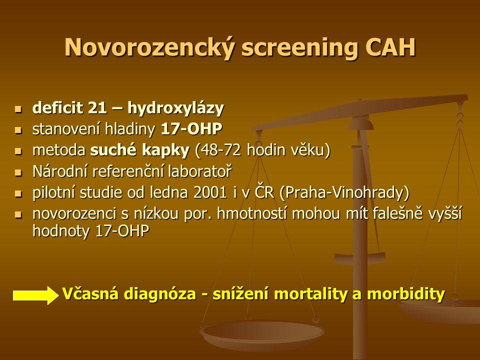 Novorozencký screening CAH