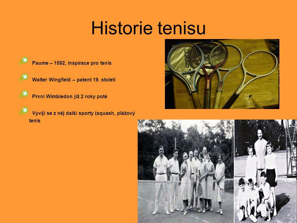 Historie tenisu Paume – 1592, inspirace pro tenis