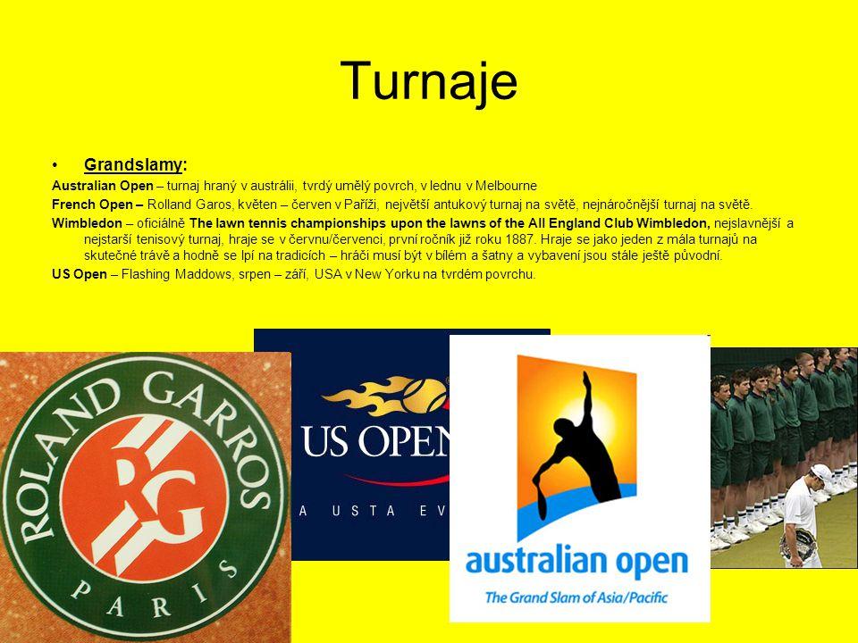 Turnaje Grandslamy: Australian Open – turnaj hraný v austrálii, tvrdý umělý povrch, v lednu v Melbourne.