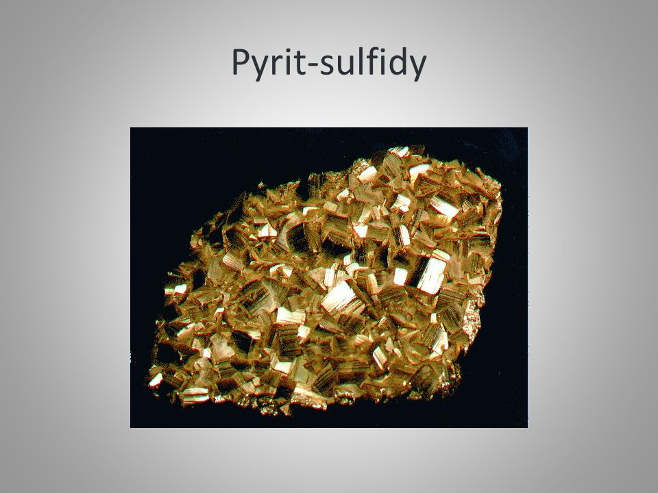 Pyrit-sulfidy