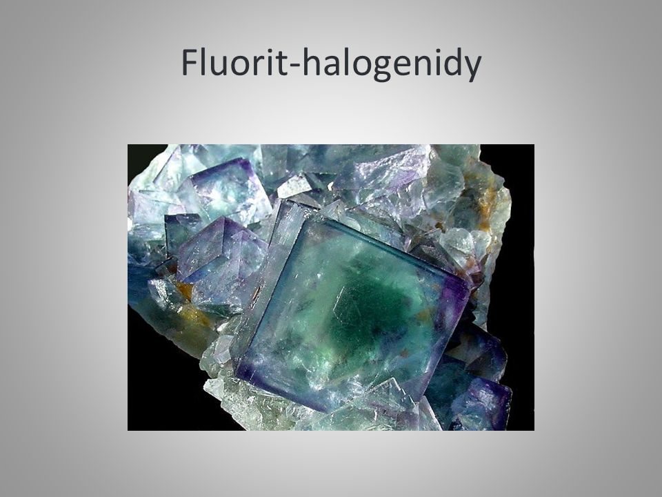 Fluorit-halogenidy