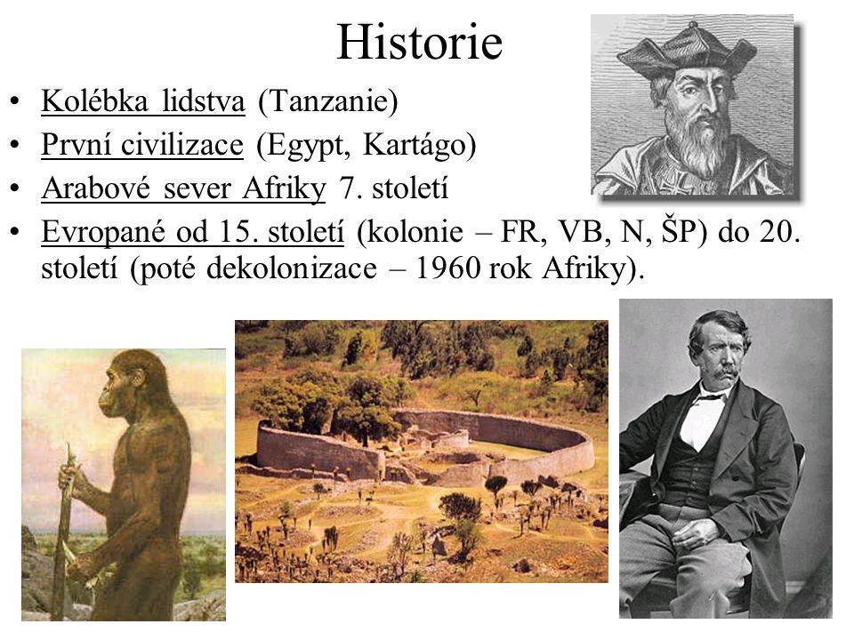 Historie Kolébka lidstva (Tanzanie) První civilizace (Egypt, Kartágo)