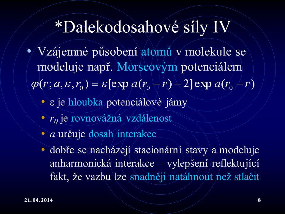 *Dalekodosahové síly IV