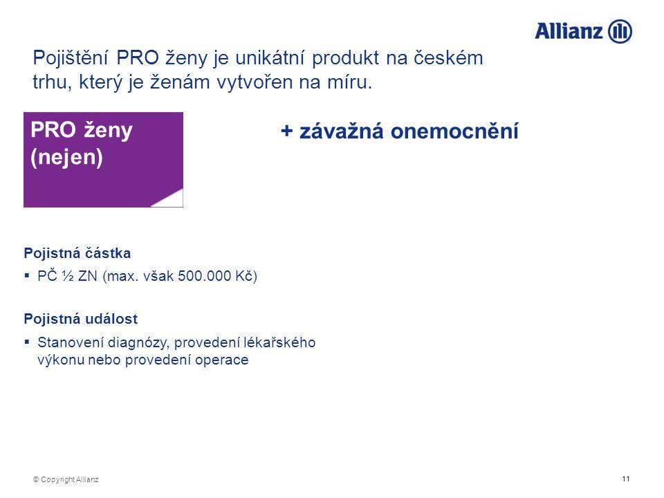 Pojištění PRO ženy je unikátní produkt na českém trhu, který je ženám vytvořen na míru.