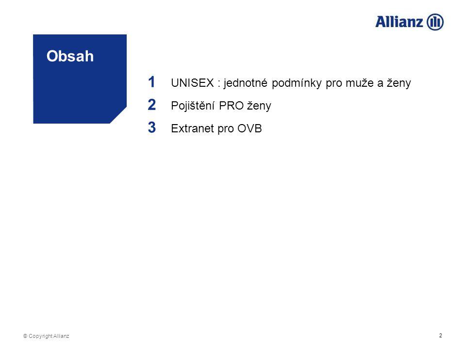 1 2 Obsah 3 UNISEX : jednotné podmínky pro muže a ženy