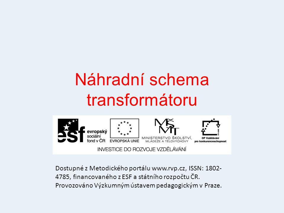 Náhradní schema transformátoru