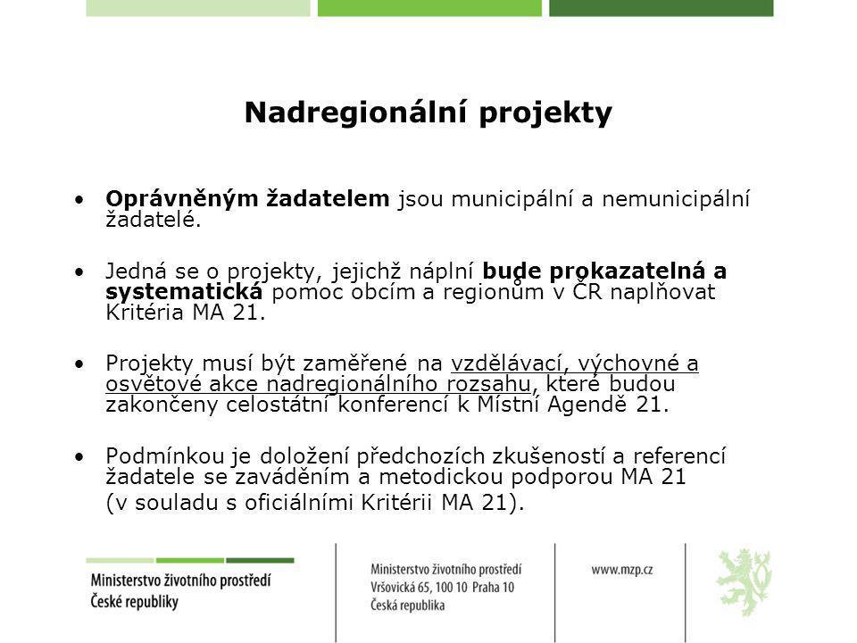 Nadregionální projekty