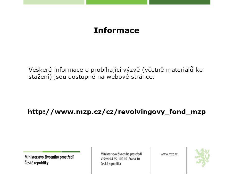 Informace Veškeré informace o probíhající výzvě (včetně materiálů ke stažení) jsou dostupné na webové stránce:
