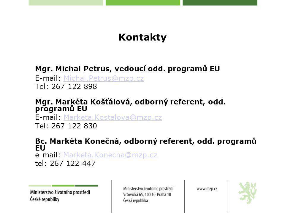 Mgr. Michal Petrus, vedoucí odd. programů EU