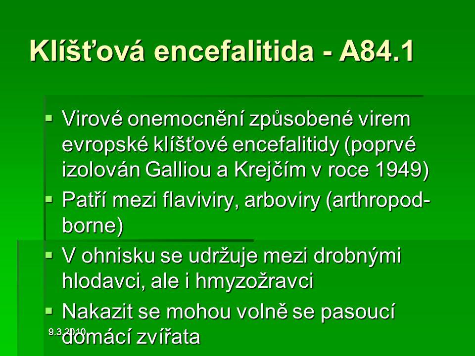 Klíšťová encefalitida - A84.1