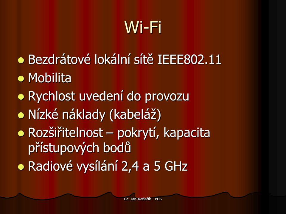 Wi-Fi Bezdrátové lokální sítě IEEE802.11 Mobilita