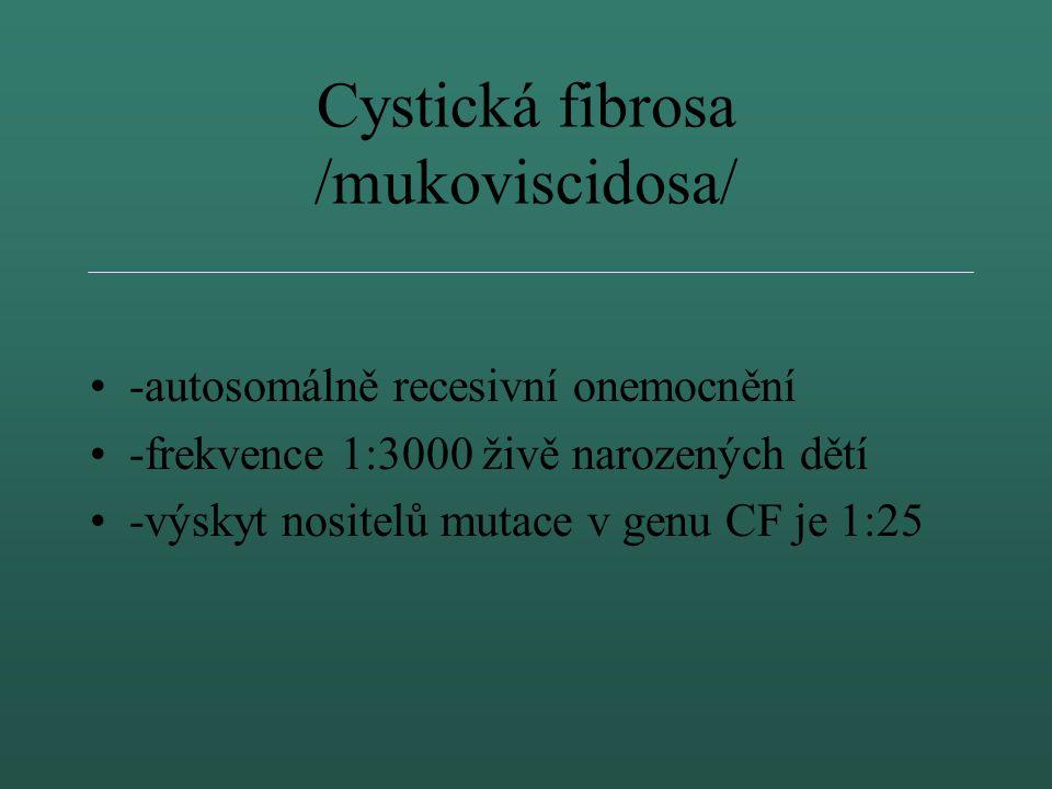 Cystická fibrosa /mukoviscidosa/