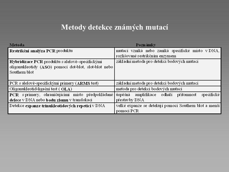 Metody detekce známých mutací