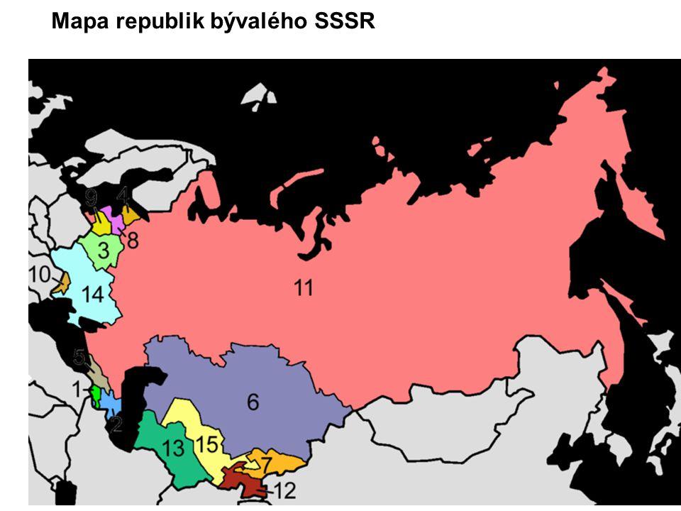 Mapa republik bývalého SSSR