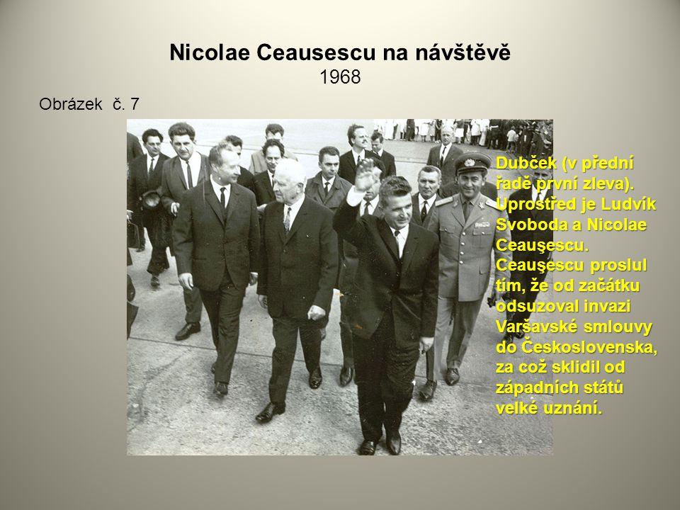 Nicolae Ceausescu na návštěvě 1968