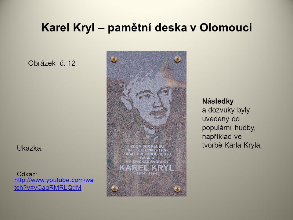 Karel Kryl – pamětní deska v Olomouci