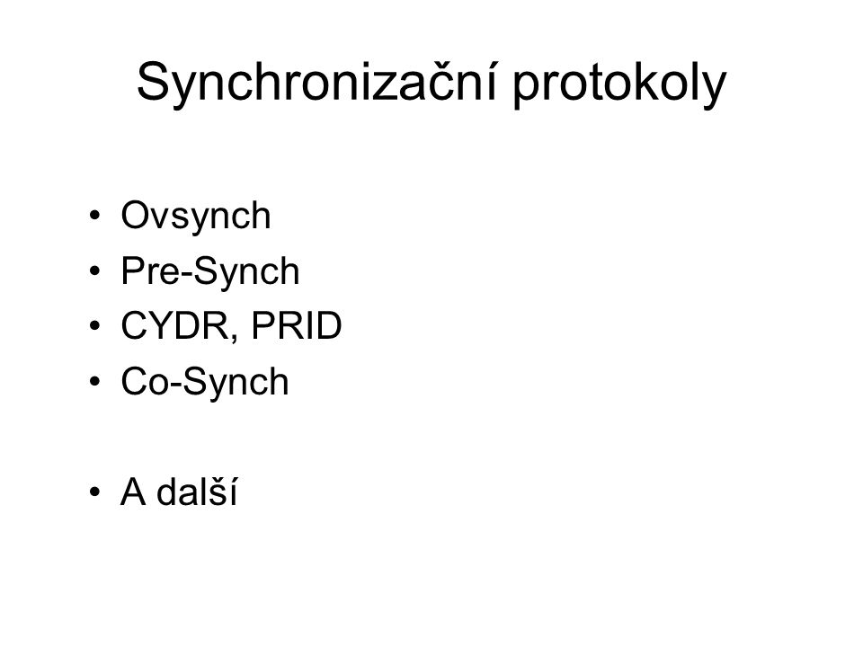 Synchronizační protokoly