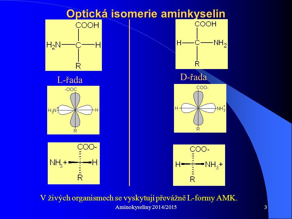 Optická isomerie aminkyselin