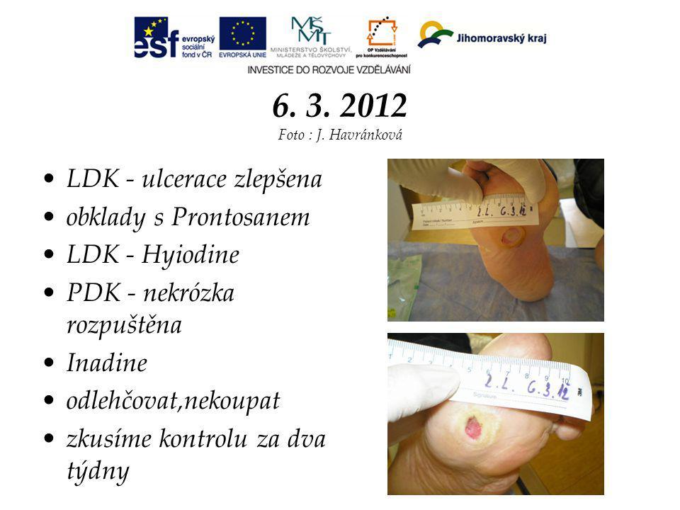 6. 3. 2012 Foto : J. Havránková LDK - ulcerace zlepšena