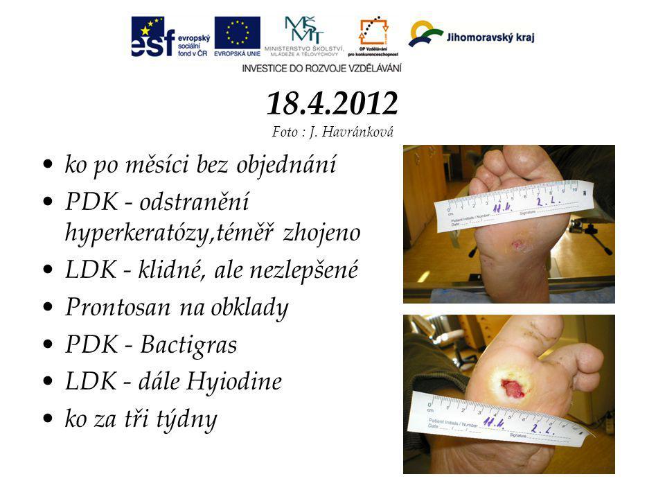 18.4.2012 Foto : J. Havránková ko po měsíci bez objednání
