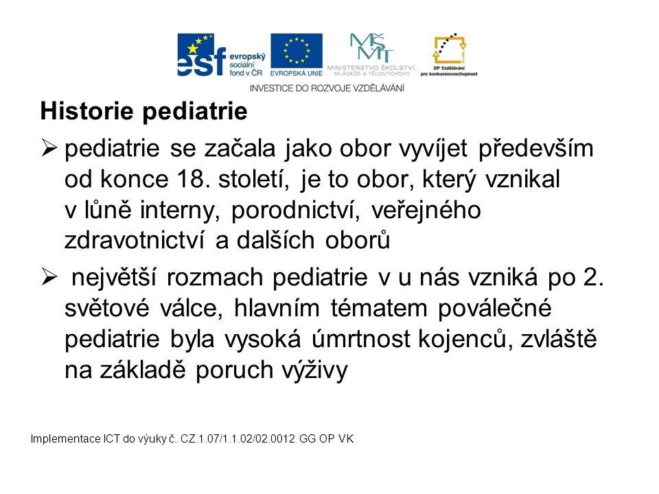 Historie pediatrie