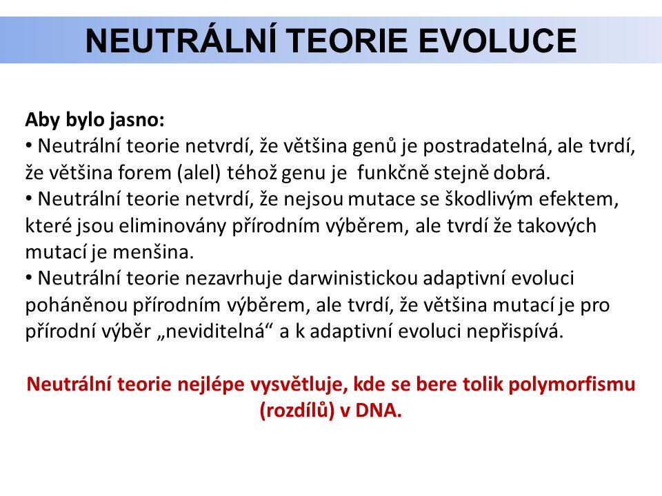 Neutrální teorie evoluce