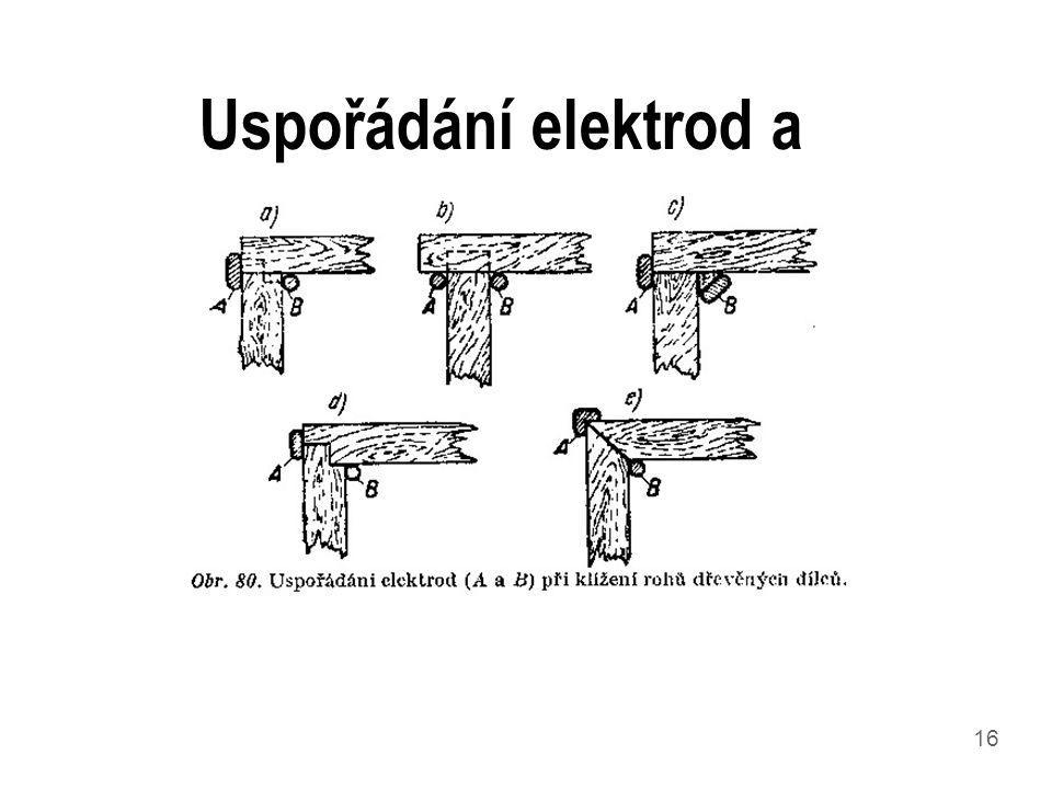 Uspořádání elektrod a