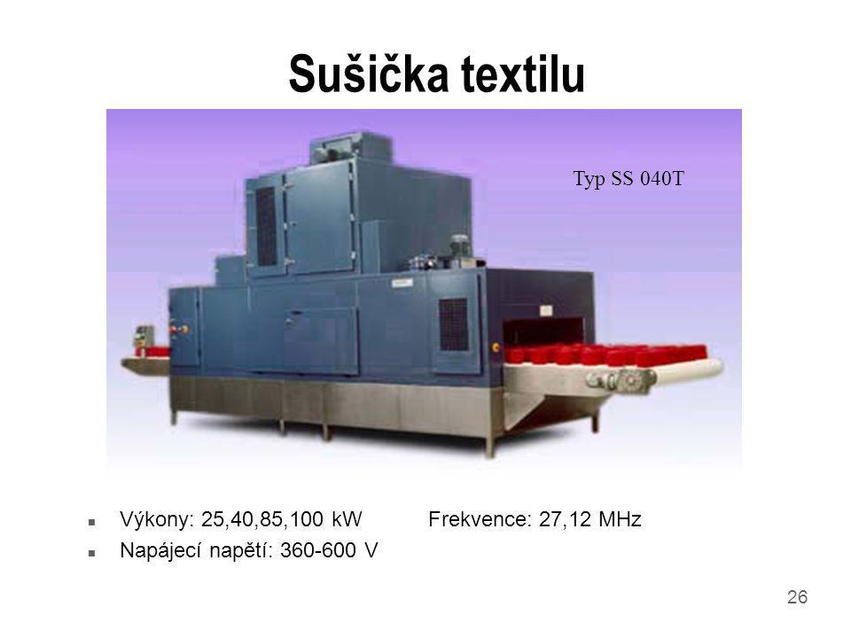 Sušička textilu Typ SS 040T