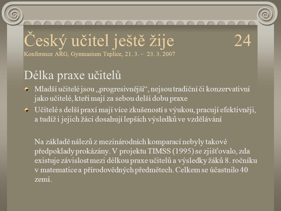 Český učitel ještě žije 24 Konference AŘG, Gymnasium Teplice, 21. 3
