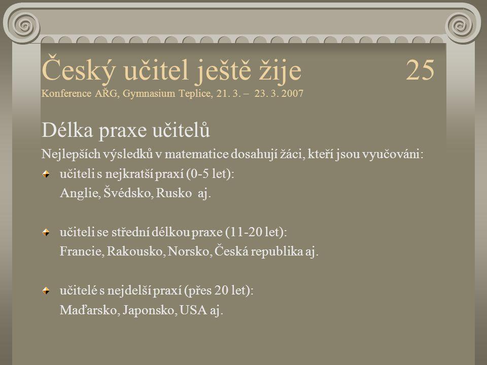 Český učitel ještě žije 25 Konference AŘG, Gymnasium Teplice, 21. 3