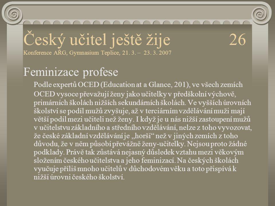 Český učitel ještě žije 26 Konference AŘG, Gymnasium Teplice, 21. 3