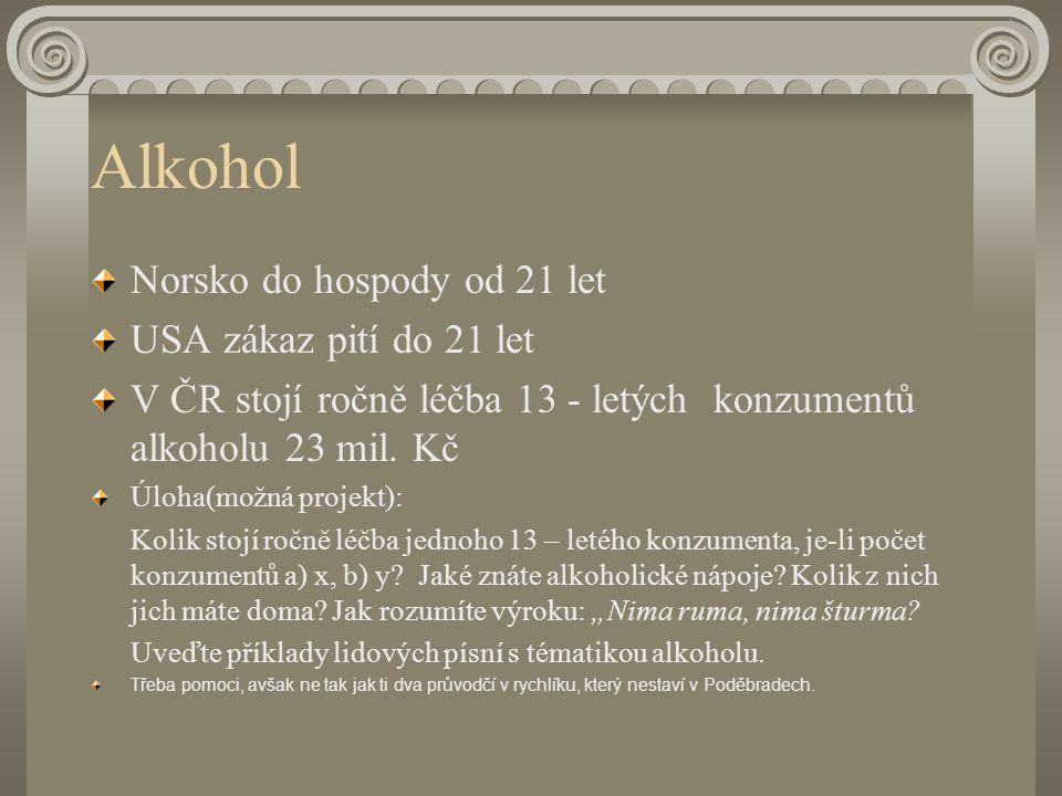 Alkohol Norsko do hospody od 21 let USA zákaz pití do 21 let