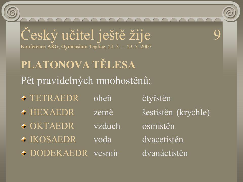 Český učitel ještě žije 9 Konference AŘG, Gymnasium Teplice, 21. 3