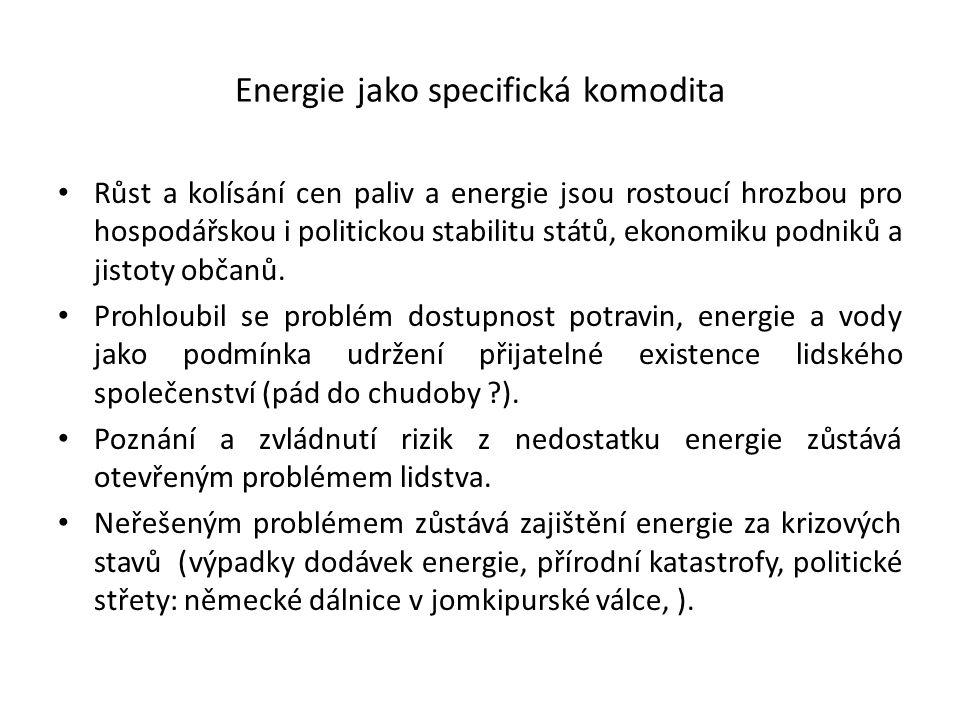Energie jako specifická komodita