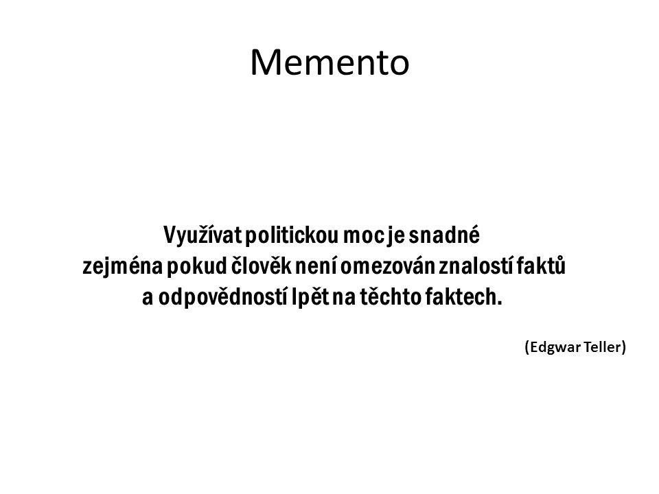 Memento Využívat politickou moc je snadné