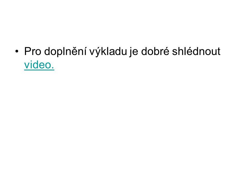 Pro doplnění výkladu je dobré shlédnout video.
