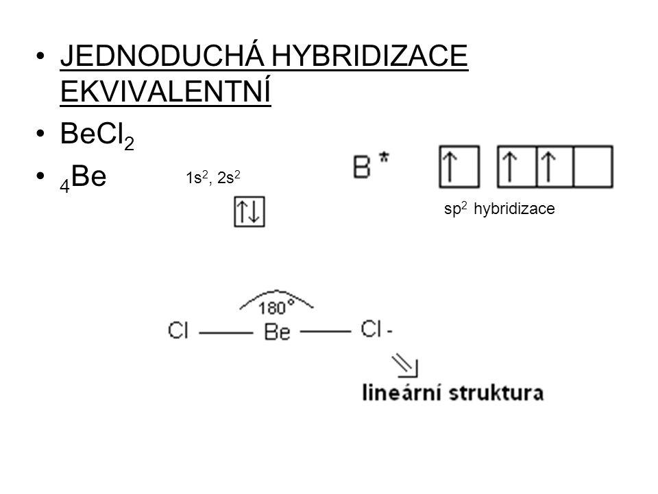 JEDNODUCHÁ HYBRIDIZACE EKVIVALENTNÍ BeCl2 4Be