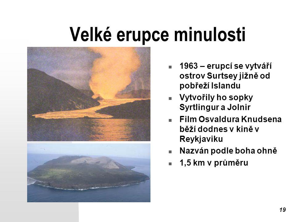 Velké erupce minulosti