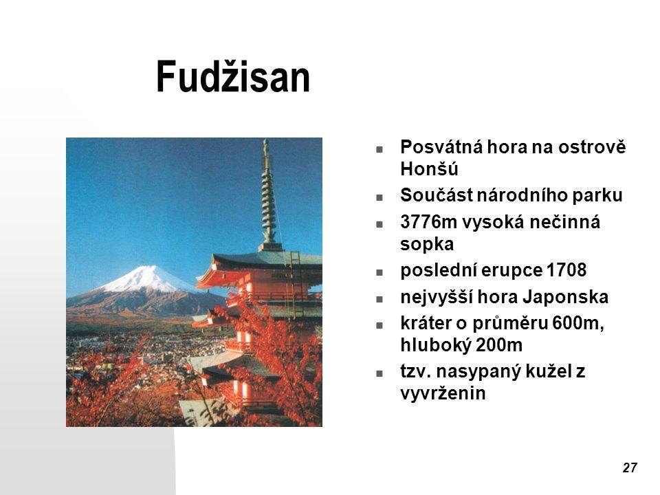 Fudžisan Posvátná hora na ostrově Honšú Součást národního parku