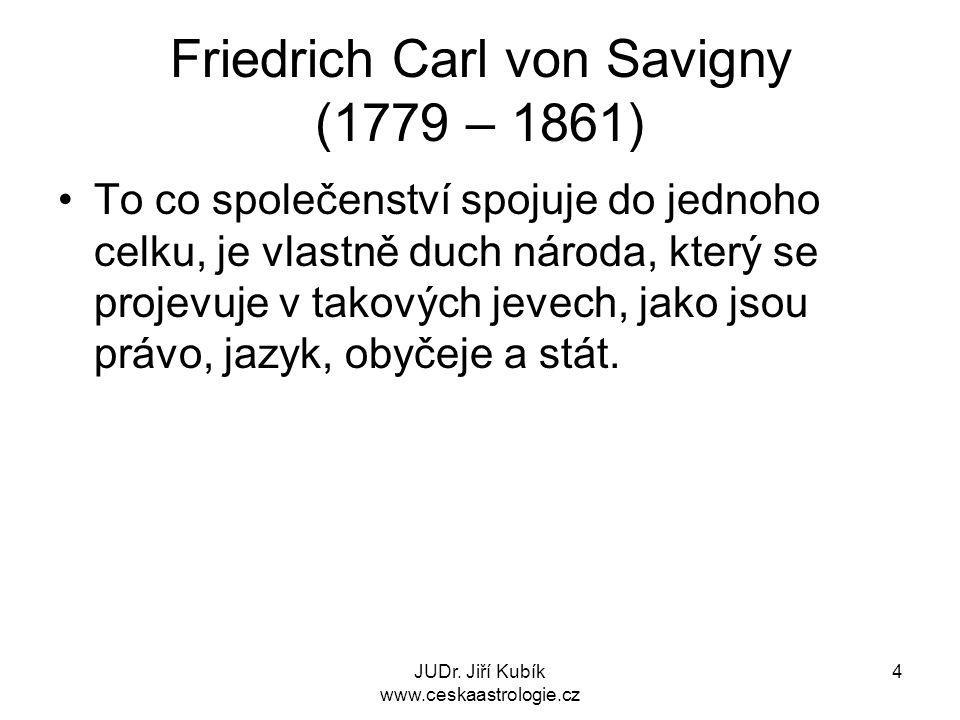 Friedrich Carl von Savigny (1779 – 1861)