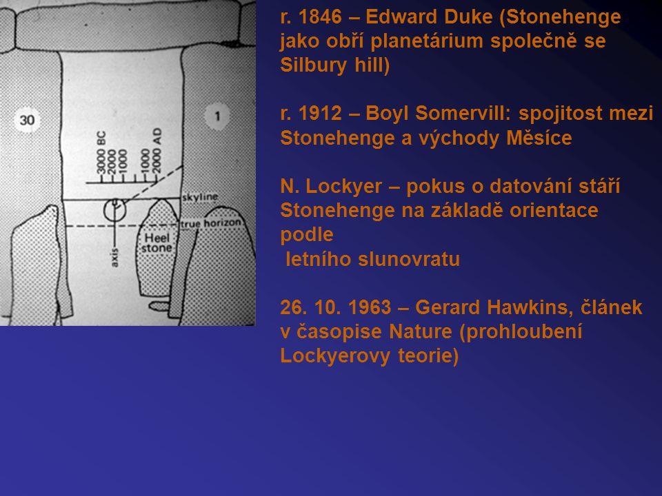 r. 1846 – Edward Duke (Stonehenge jako obří planetárium společně se